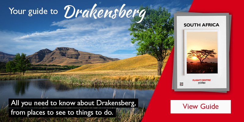 A view of the Drakensberg.