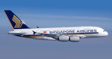 Singapore Airlines in the sky