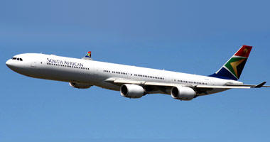 South African Airways in the sky