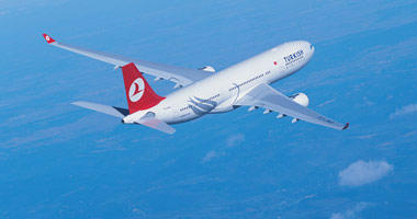 Turkish Airlines in the sky