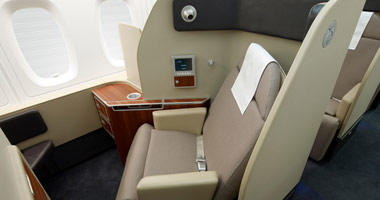 Qantas First Class sleeper bed