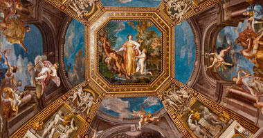 Hand-Painted Vatican Ceiling