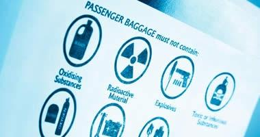 Items that are restricted from flying are considered to be dangerous goods that could harm the safety of an aircraft