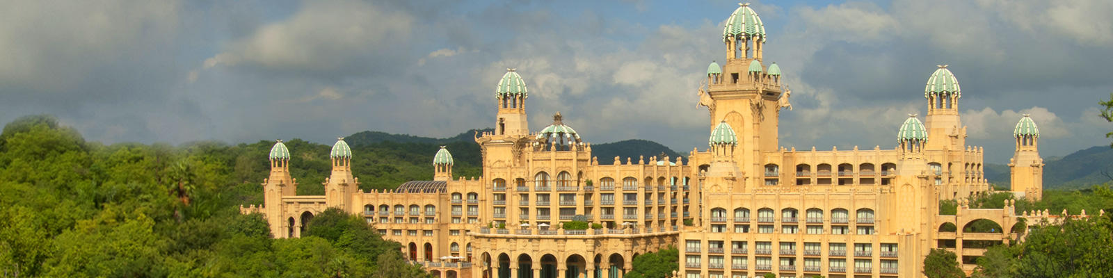 A view of the Palace of the Lost City hotel at Sun City, which can be visited with a cheap holiday from Flight Centre.