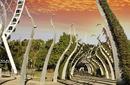 Walkway through Southbank, Brisbane, Queensland