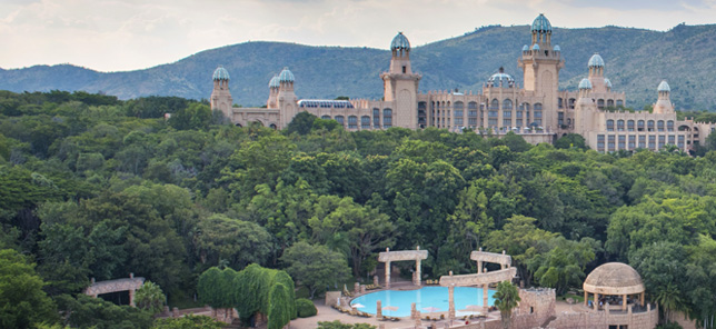 An aerial view of Sun City, which can be visited when you book your hotel or other accommodation with Flight Centre.