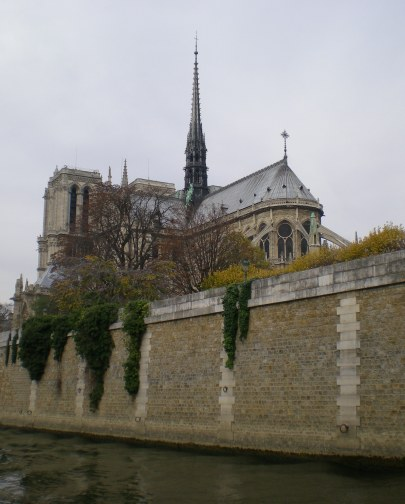 Notredame from the Seine River