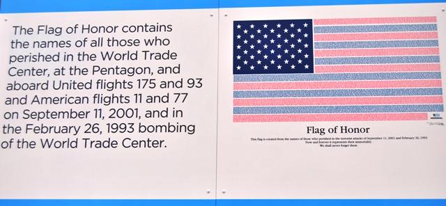 Flag of Honour at the WTC memorial site