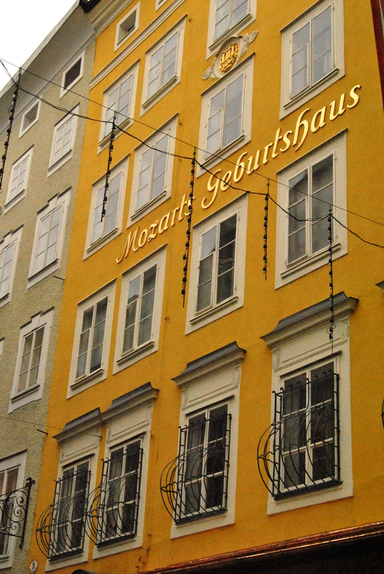 The house where Mozart was born, Salzburg