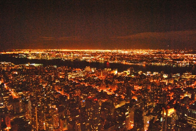 NYC by night looking over the East River